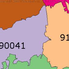 rock zip code map eagle rock los angeles california zip code boundary map ca