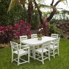 polywood la casa cafe 7 piece dining set