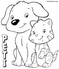 pets coloring pages coloring pages to download and print