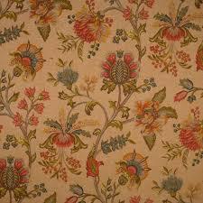 Scalamandre Upholstery Fabric Sc60089 004 Jacobean Multi On Blush By Scalamandre