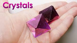 crystals grow purple single crystals of salt at home diy home decorations