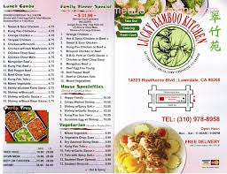 bamboo kitchen menu new kitchen style