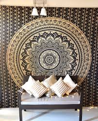 amazon com bohemian mandala tapestry hippie wall hanging indian amazon com bohemian mandala tapestry hippie wall hanging indian ombre mandala bedding bedspread set for bedroom college dorm room wall art decor or home