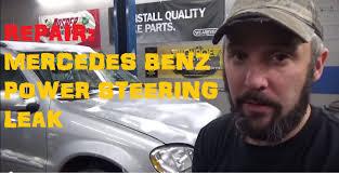mercedes benz power steering leak youtube