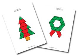 pattern blocks math activities christmas theme activities for pre k pattern blocks christmas