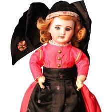 french halloween costumes sfbj 301 12 inch antique french doll in folklore costume very