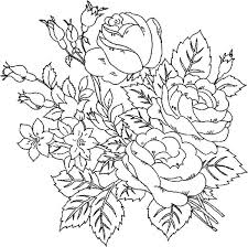 Floral Coloring Pages Beautiful Roses Flower Coloring Page Free Mandala Flowers Coloring Pages