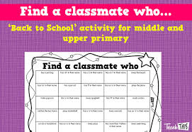 how to find a classmate find a classmate who printable resources and