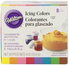 amazon com wilton set of 8 icing colors kitchen u0026 dining