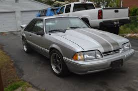 Black Mustang Grey Stripes Fox Body Mustang 10