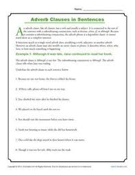 adverb clauses are a type of subordinate clause sentence