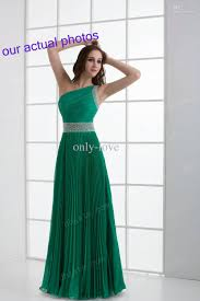 turmec one shoulder green prom dresses
