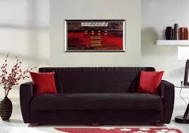 Microfiber Sleeper Sofa by Miami Rainbow Storage Sleeper Sofa In Black By Sunset
