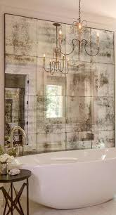 Tuscan Bathroom Designs Sometimes An Artfully Faded Mirror Is All That Is Necessary To