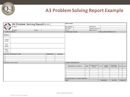 root cause report template a3 report root cause analysis quality one
