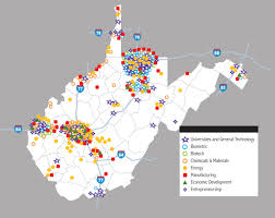 Wv Map Innovation On The Map West Virginia Regional Innovation Cluster