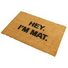 ckb ltd hey i u0027m mat funny doormat coir doormats