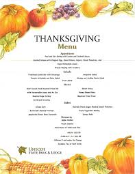 thanksgiving thanksgiving tg menu unicoi adventure