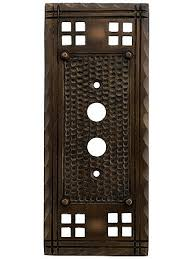 craftsman style light switches arts and crafts push button switch plate in oil rubbed bronze oil