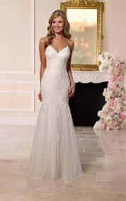 spaghetti wedding dress lace spaghetti wedding dress stella york