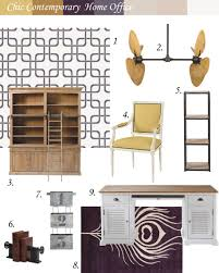inspiration board sheek contemporary home office