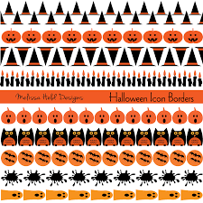 halloween party borders halloween icon borders mygrafico