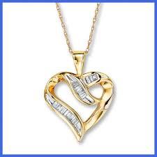 diamond heart gold necklace images Luxury mini diamond heart necklace jpg