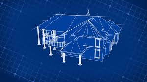 blueprint house plans blueprint house on 3d grid motion background videoblocks