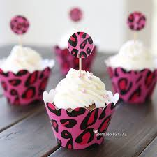 baby shower cupcake supplies free shipping pink leopard print
