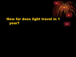 how far does light travel in a year images Soar system jpg