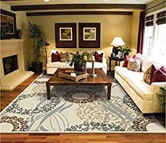 large living room rugs amazon com large area rugs 8x11 dining room rugs for hardwood
