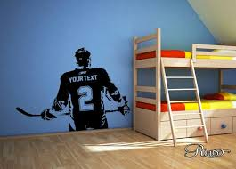 hockey bedrooms customable big hockey decals for walls sticky personalized name