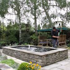 image result for raised pond waterfall ideas tiny back yard