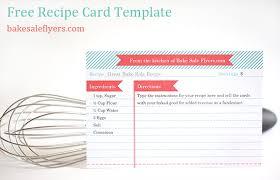 recipe card template bake sale flyers u2013 free flyer designs