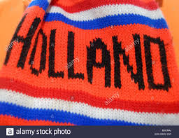orange dutch football scarf with the word holland and the colours