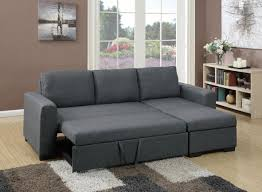 Blue Gray Living Room F6931 Blue Gray Convertible Sectional Sofa By Poundex
