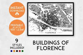 Large Florence Maps For Free by Florence Map Print Printable Firenze Map Art Firenze Print