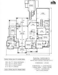 plan no 3353 0615 sq feet 4 bedroom 2 story house plans