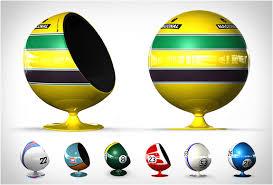 Helmet Chair Motorsport Tribute Egg Chairs