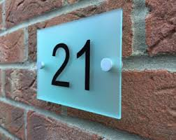 glass door number signs modern house sign plaque door number street house name frosted