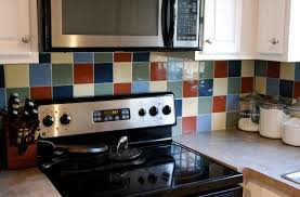 painted tiles for kitchen backsplash before after painting kitchen backsplash tile apartment