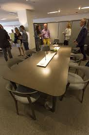 Teknion Conference Table Teknion Zones Workshop Table And Arm Chairs Neocon 2016