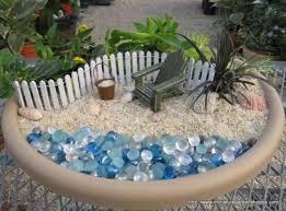 Fairy Gardens Ideas by Best Gardening Ideas Mermaid And Beach Themed Fairy Garden 45