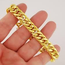 mens bracelet designs images 12mm chains men 39 s bracelet wholesale fashion jewelry 24k yellow jpg