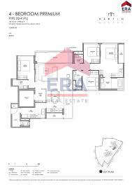 martin modern 4 bedroom floor plan type d2 premium keith tan