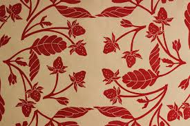 strawberry pattern gift wrap handprinted kraft wrapping paper