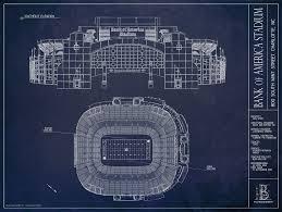 Bank Of America Stadium Map by Bank Of America Stadium Carolina Panthers Ballpark Blueprints