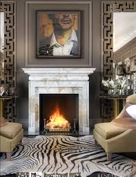 mantel large mirrors flanking either side of fireplace mantels