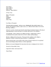 free letter of intent template sample letters of intent d i y