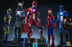 Black Power Ranger Meme - power rangers avengers mash up the geeko